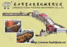 High output electronic vegetable sorting machine , vegetable and fruit washing machine With CE