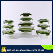 Borosilicate glass food container 20pcs set/Microwave safe pyrex glass food storage containers 10sets with BPA free lid