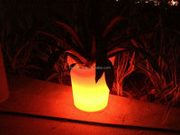 PE led lighting plant pot for outdoor