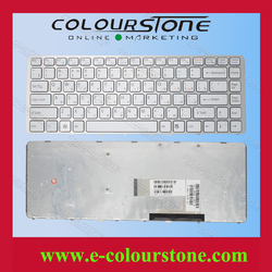 New For Sony Vaio VGN-NW VGN NW series white RU laptop keyboard with frame 148737941 53010DJ07-203-G