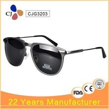 CJ 2015 High Quality Sunglasses Men Polarized Custom Clubmaster Metal Sunglasses CJG3203