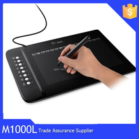 """Ugee M1000L 10"""" X 6"""" Touch Graphics Drawing Pen Large Tablet with 24 Express Keys (4000 LPI 200 RPS 2048 Levels)"""