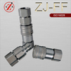 ISO 16028 steel flat face fuel quick coupling