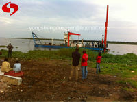 iron sand dredger ship with magnetic separator