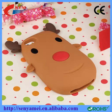 Merry Christmas !! 2015 Christmas 3D Elk Soft Case For iPhone 6, For iPhone 6/6s Silicon Animal Phone Case
