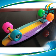 72mm pu wheel retro plastic skateboard, plastic cruiser skateboard
