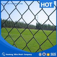 Home garden hot dipped galvanized chain link fence , pvc coated chain link fence