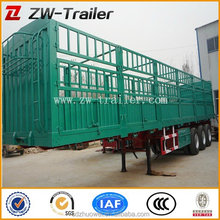 Hot Sale Tri-Axles Cage Trailer for Animal Transportation