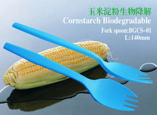 100% Biodegradable Disposable cornstarch dinner knife/spoon/forks