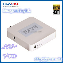 Most popular product in Europe Live hot tv channels cartoon movies European/English iptv box