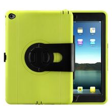 360 Rotating Switch Case for iPad Air 2, Silicone Case for iPad Air 2 with Kichstand