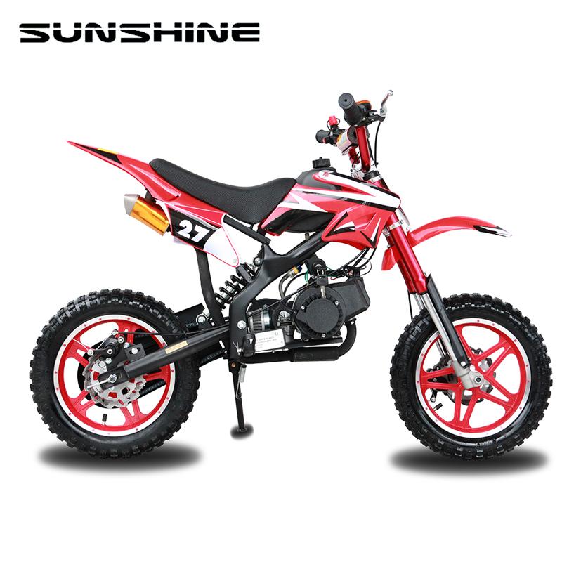 Alta calidad más nueva 50cc mini moto 49cc camino legal dirt bike