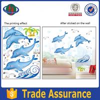 Fashion Vinyl PVC Cute dolphin wall sticker