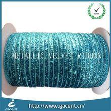 Super China Manufacturer Welcome Custom Christmas Metallic Glitter Ribbon