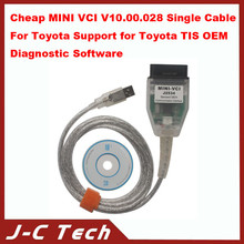 Cheap MINI for VCI V10.00.028 Single Cable For Toyota Support for Toyota TIS OEM Diagnostic Software