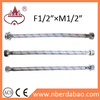 stainless steel braided hose for toilet pipe connection
