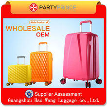 World top 500 ODM Factory Sale abs pc trolley case travel luggage bags