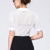 Top grade export patch work in blouse neck designs