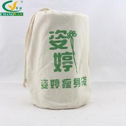 cotton canvas drawstring yoga bag/ canvas gym bag