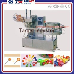 Automatic High Speed Lollipop Candy Bunch Wrapping Machine