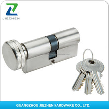 aluminum alloy nickel finishing length 40-120mm6pins yale euro high security door cylinder lock with knob