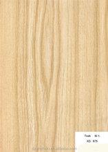 Grão de madeira de madeira de teca placa formica BH675 / fórmica / alto brilho laminado folha