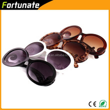 2015 Hot Sale Fashion women Black Round sunglasses