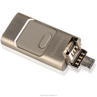 New products 2015 iflash drive mobile phone custom otg usb flash drive for iphone 5