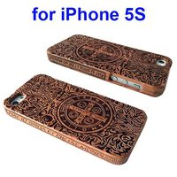 Separable Retro Totem Patttern Hard Premium Wood new arrive case for iphone 5s