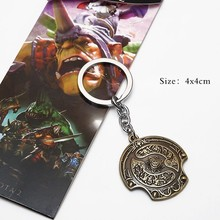 Promotional 3d metal anime game keychain