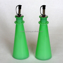 2015 China jade glass oil bottle spray color