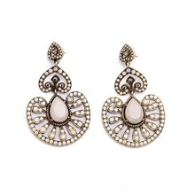 Fashion Wholesale 2015 New Design Alloy Crystal Earring E10742