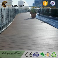 High strength long lifetime crack-reasistant waterproof wood plastic wpc composite car parking double decking