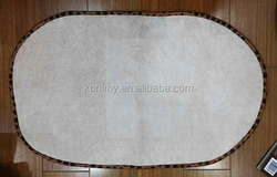 KLM-333 wholesale home use white color dog or cat pet bowl mat,plain dyed kitchen tea towel fabric