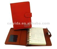 Spiral leather cover notebook printing