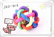cangnan pets flexible dog toys free samples, dog toys free samples/ Colored Training Pet Toys Dog Ball with Bell
