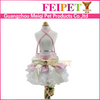 luxury pet dress wholesale small dog wedding dress overalls