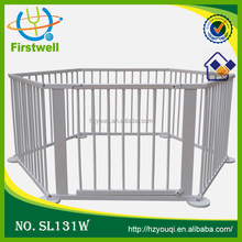 White color wooden baby furniture/baby playpen /baby bed
