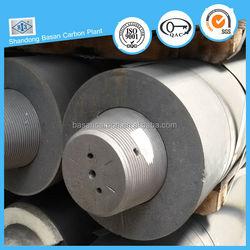 1.55g/cm3 Ultra high power graphite electrode for welding iron scrap