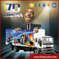 5d 7d 9d cinema equipment with mobile cabin/box
