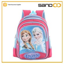 2015 girls school bags, kids Anna Elsa frozen bag, stock schoolbag wholesale