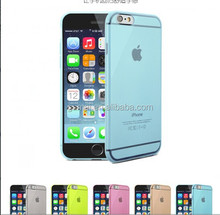 Cell phone cover wholesale transparent soft TPU mobile phone case for iphone6/plus