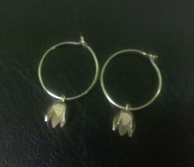 EWFMN36 - 925 Sterling Silver Creole Ear Hook with Bead Cap