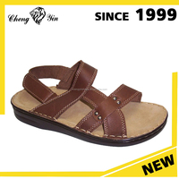 china wholesale alibaba style Brand design durable summer leather sandal shoes for men