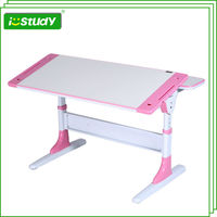 attached school desks and chair