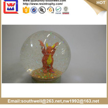 2012 Hand Painted Resin Dragon water ball snow ball