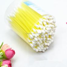 Palo de plástico desechable hisopos de algodón
