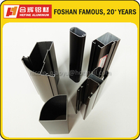 Anodized Champagne Aluminum Profiles in Oval Tube/Section/ Windows and Doors Frame