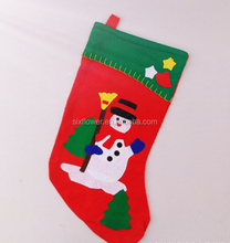 In stock red and green YIWU made cheapest price Christmas stocking