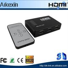 5 port mini plastic hdmi switch with auto remote control wireness